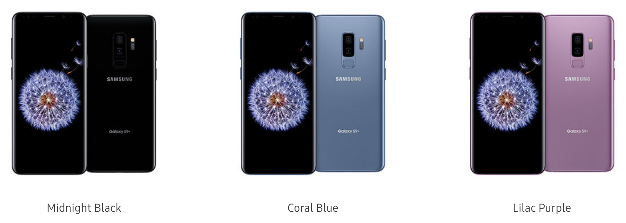 s9 plus colors